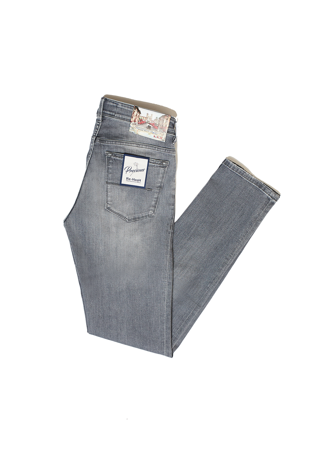 Re-Hash x TAILORABLE  Grey washed jeans