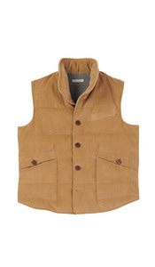 Corduroy padded Gillet peanut butter