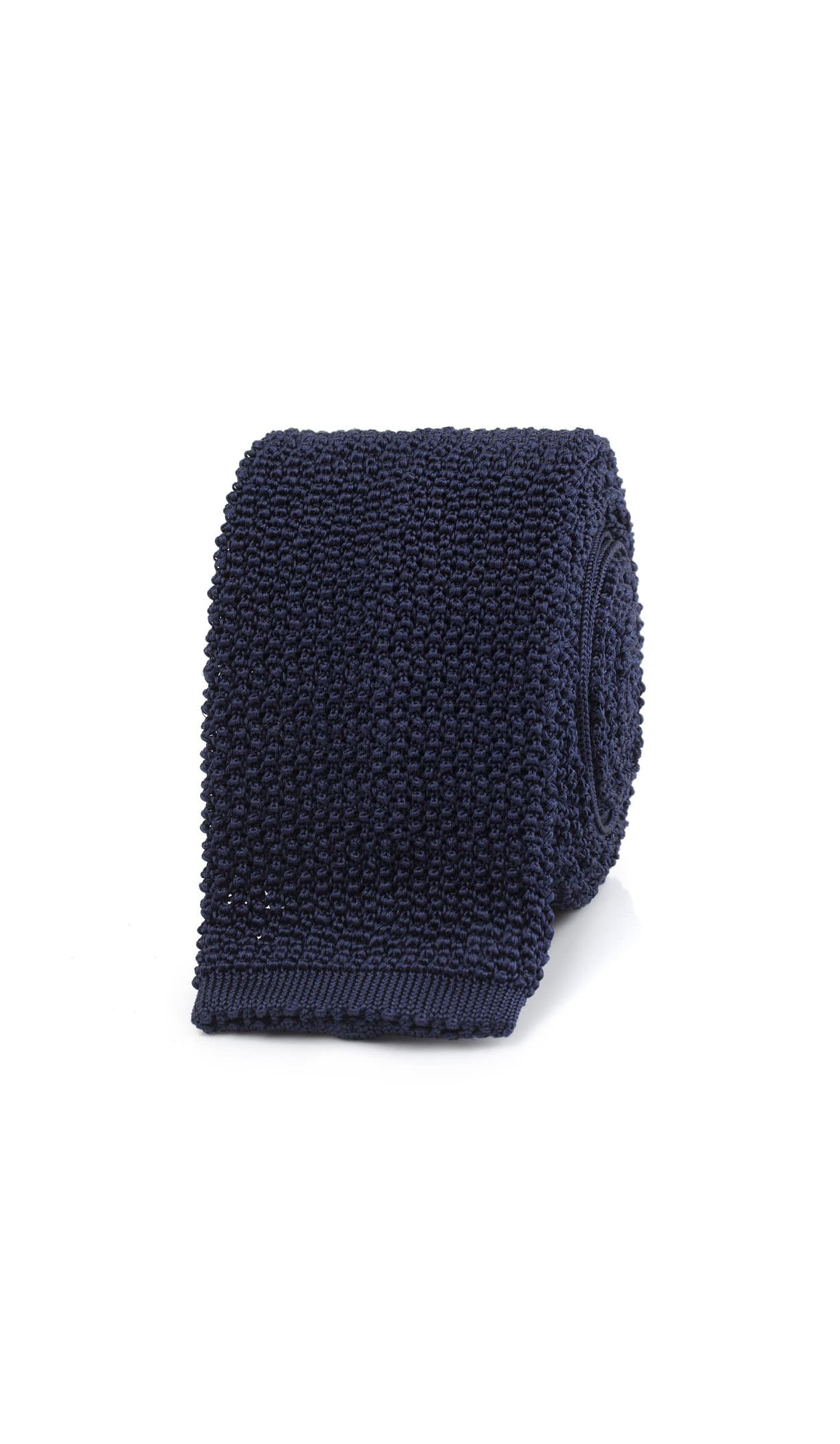 TAILORABLE x DRAKES Navy knitted silk solid colour tie